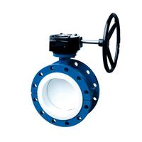 Затвор дисковый поворотный фланцевый с уплотнением PTFE